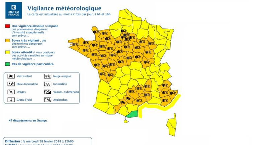 Neige et verglas : l'alerte orange maintenue en Aveyron