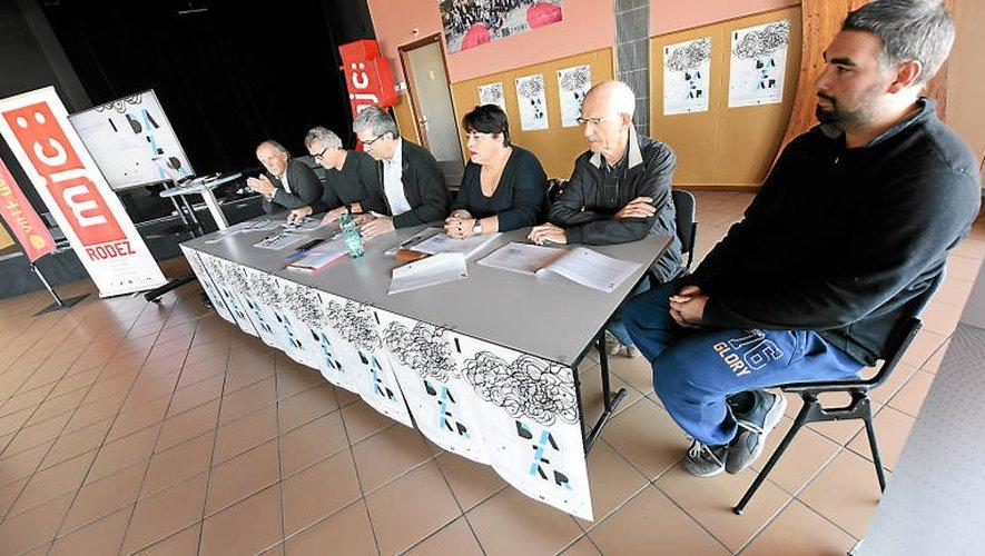 Les représentants des MJC hier à Rodez.