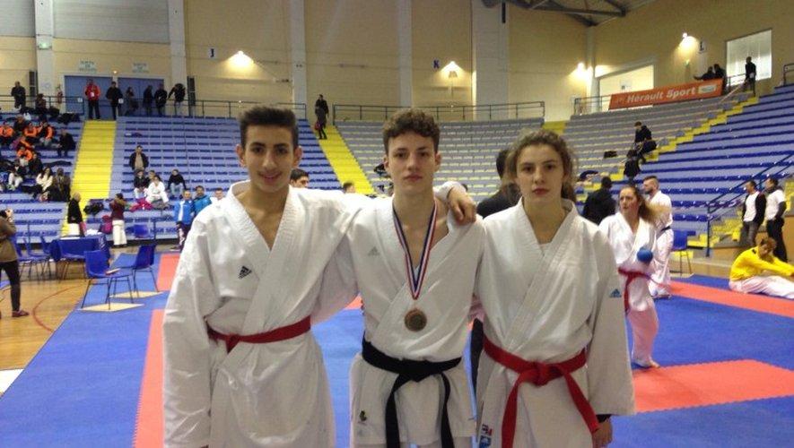 Trois représentants du Sakura Karaté au championnat de France