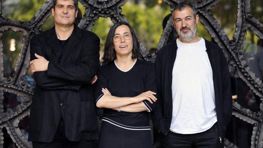 Ramon Vilalta, Carme Pigem and Rafael Aranda (RCR Arquitects) ont reçu le prix Pritzker ce mercredi notamment pour leur œuvre ruthénoise, le musée Soulages.