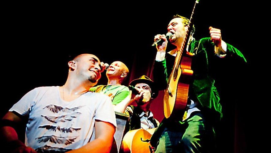 Tryo sur la scène de l'Amphi à Rodez, ce soir