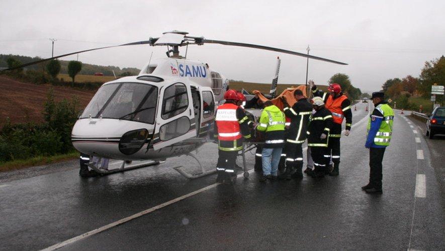 Les victimes ont été transportées jusqu'à Rodez et Montpellier.