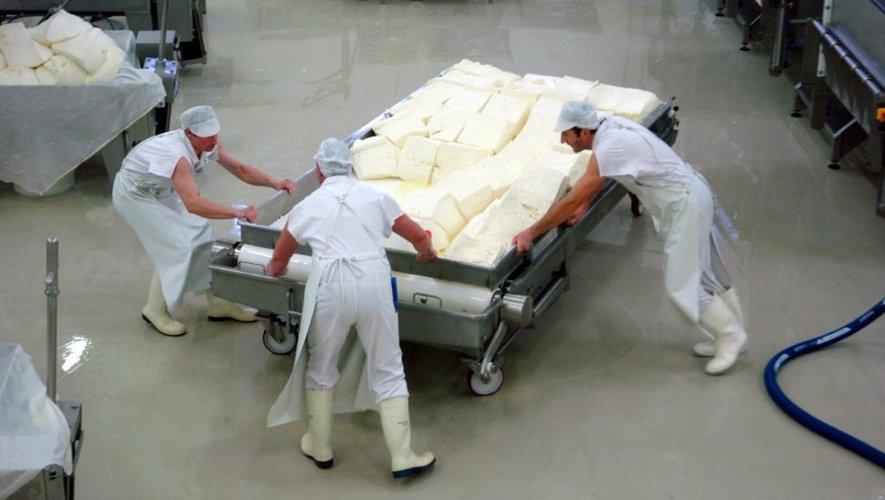 Une vue des ateliers de fabrication de fromage à Jeune Montagne.