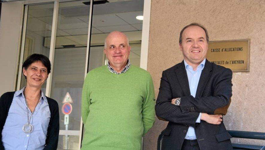 Véronique San Martin, Patrice Soubrié et Stéphane Bonnefond préparent la restructuration des centres sociaux.