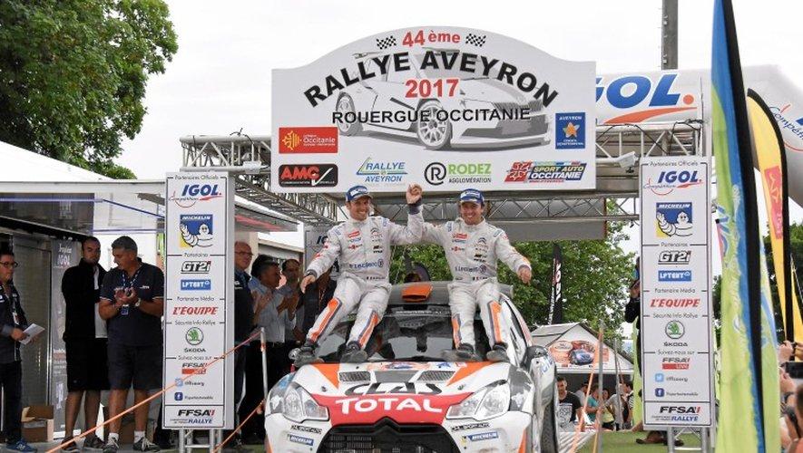 Yoann Bonato et sa Citroën DS3 sur le podium.