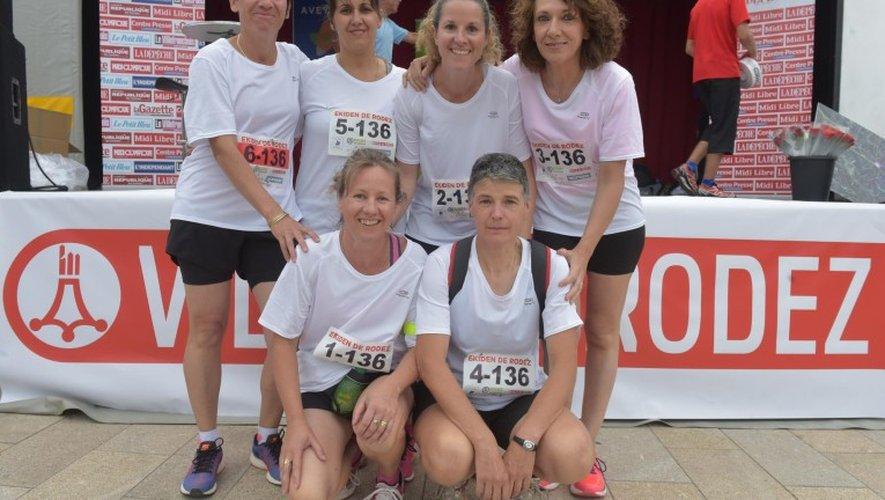 L'équipe féminine du Crédit Agricole.