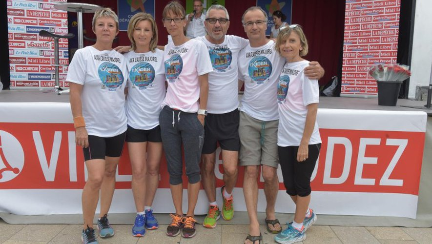 L'équipe Axa Causse Majorel.