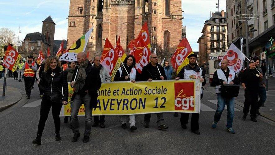 Rodez: plus de 600 manifestants ont défilé dans les rues