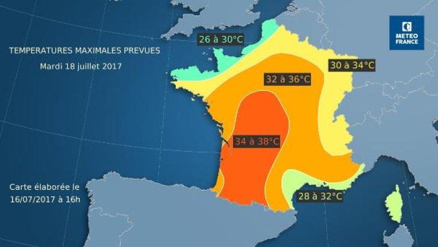 Météo : pic de chaleur en début de semaine avant des orages mercredi et jeudi