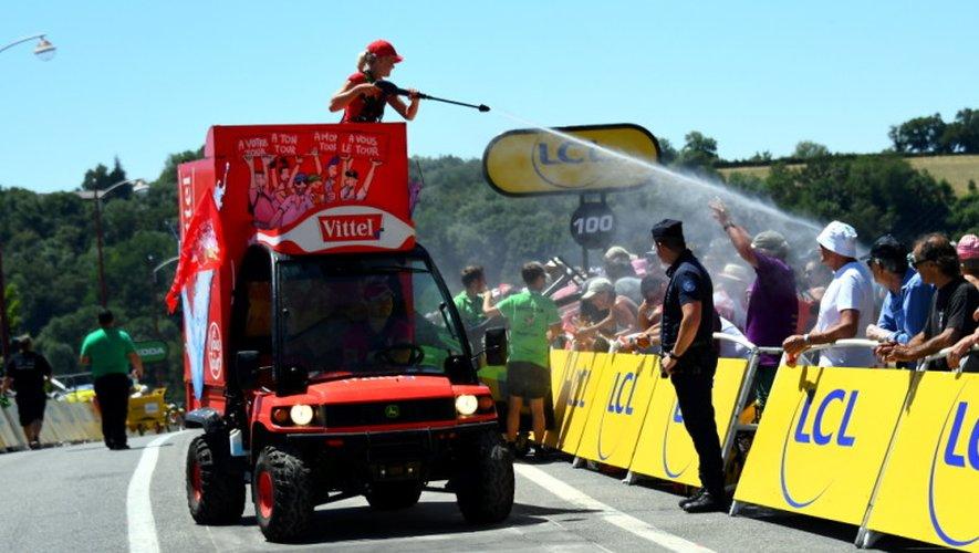 Comme en 2015, la chaleur s'est invitée sur la 14e étape entre Blagnac et Rodez.
