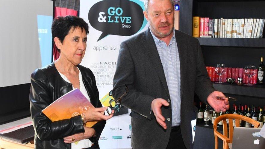 Ghislaine Couronne et Jean Burdin, respectivement directrice commerciale et président de Go&Live.