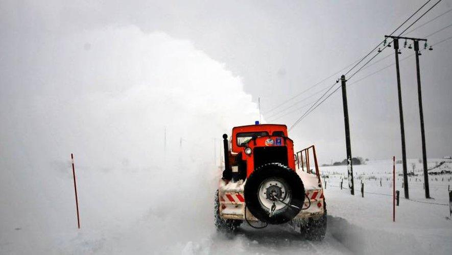 Gare à la neige et au froid qui séviront samedi et dimanche en Aveyron.