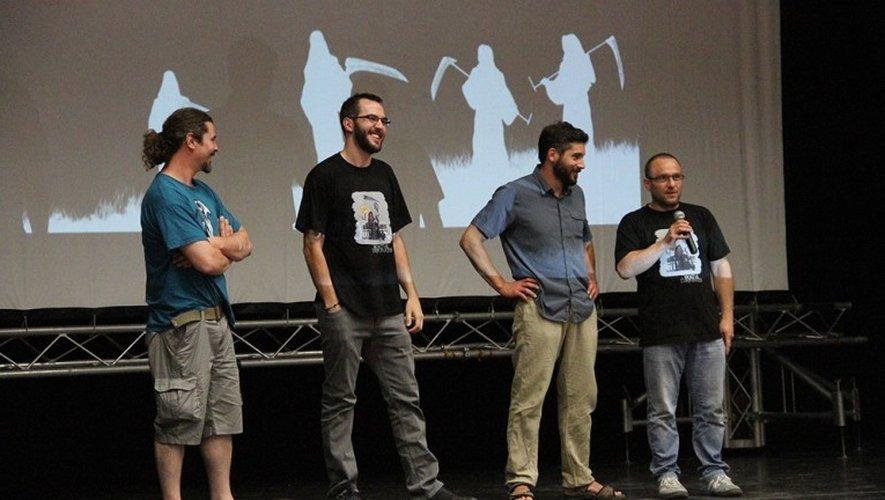 Les créateurs de la série, lors de la présentation de la première saison.