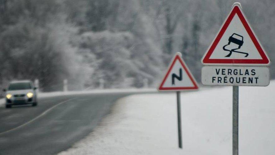 Attention au verglas sur les routes de l'Aveyron !