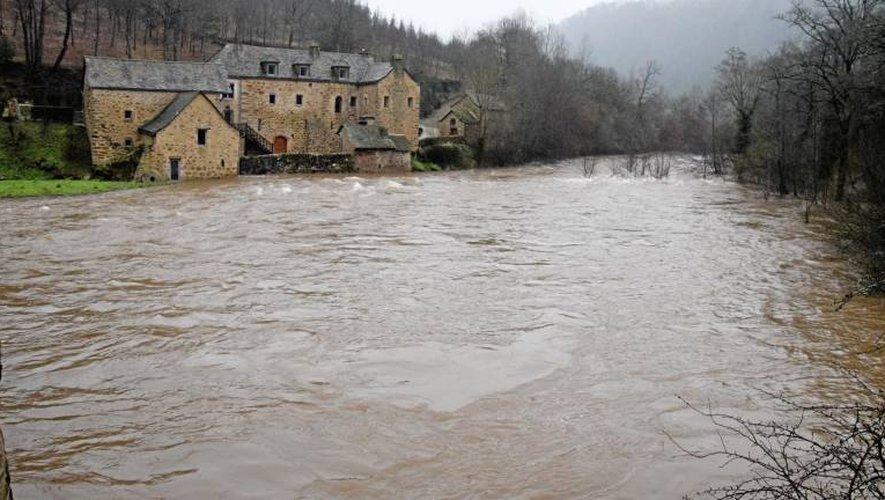 Prudence à proximité des cours d'eau de l'Aveyron même si la tendance est à la décrue aujourd'hui.