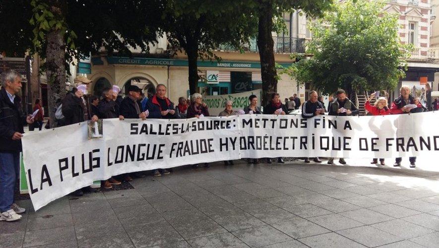 Rodez : l'association de Salles-la-Source, «Ranimons la Cascade», en résistance