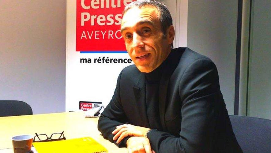 Arnaud Viala dans les locaux de Centre Presse.