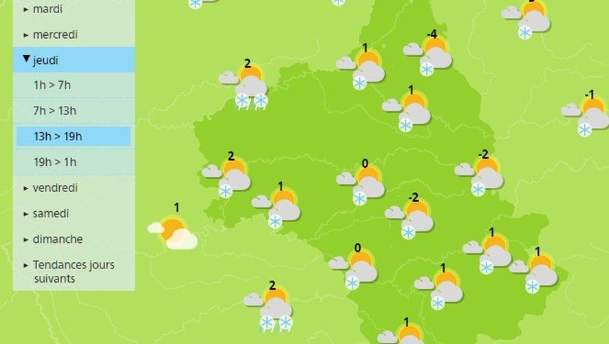 L'hiver passe à l'offensive en Aveyron : jusqu'à 30 cm de neige sur l'Aubrac