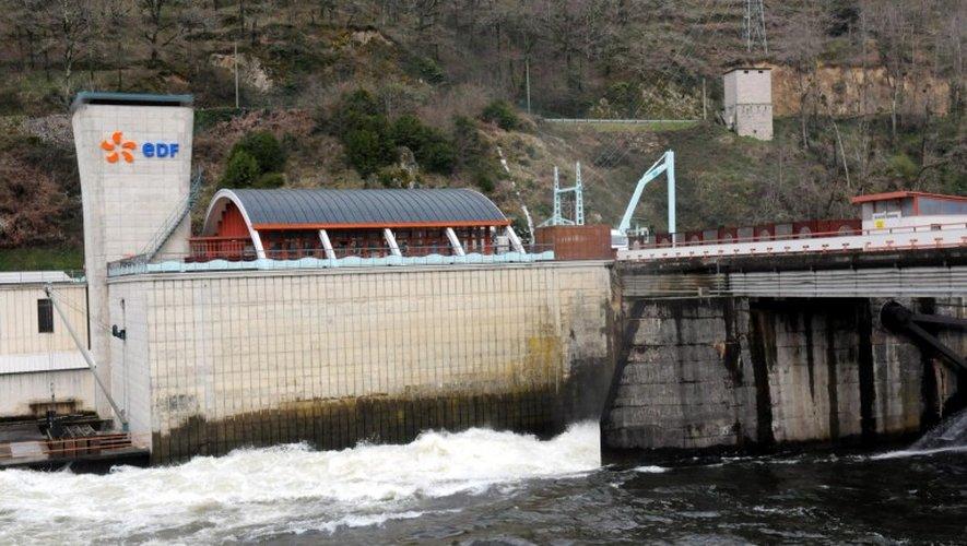 EDF, ici le barrage de Cambeyrac à Entraygues, garde le monopole des installations hydrauliques. Jusqu'à quand?