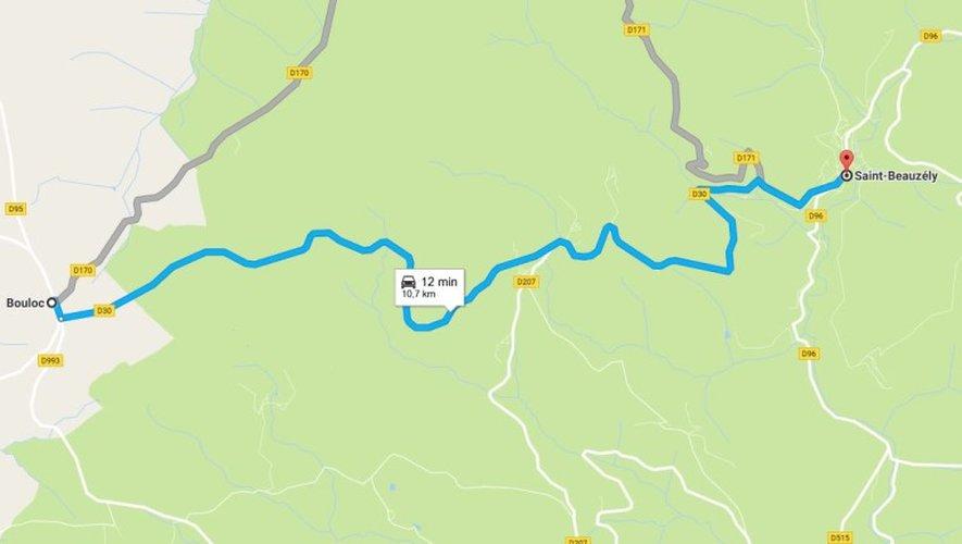 Aveyron : nombreuses chutes d'arbres sur les routes, circulation coupée entre Bouloc et Estalane
