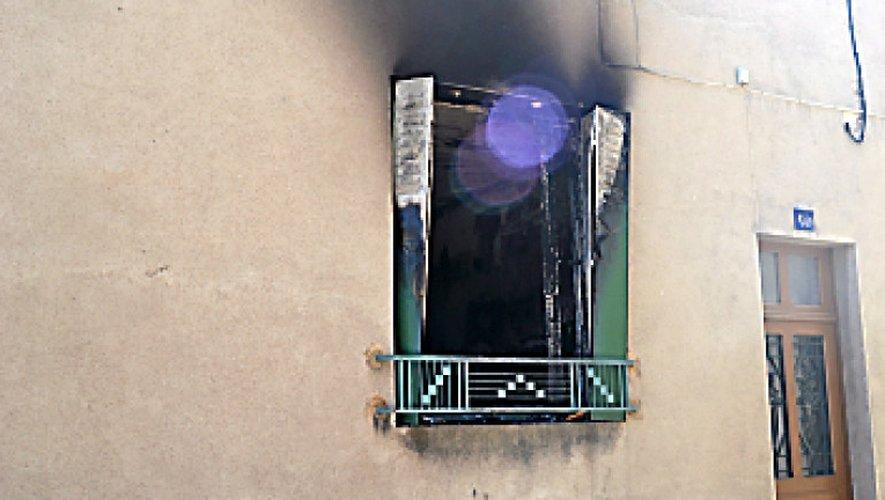 L'appartement en question, le lendemain de l'incendie.