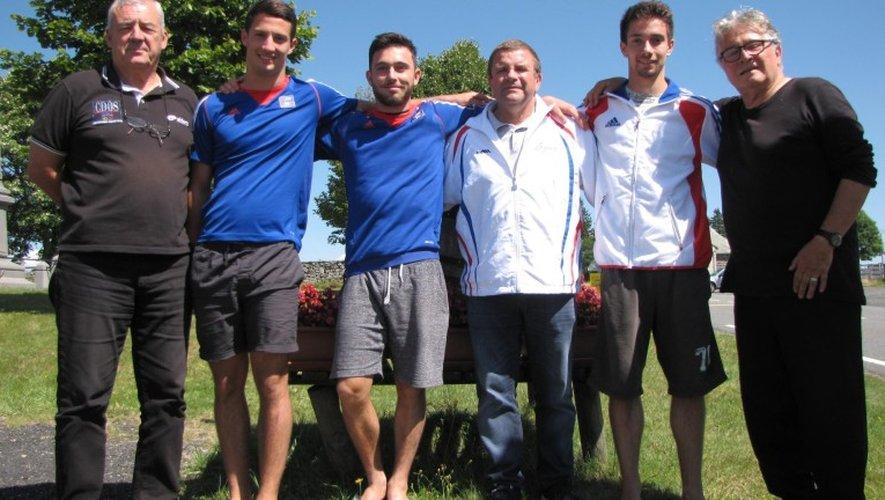 De gauche à droite : Jean-François Angles, Julian Chartier, Noé Chemel, Franck Bardy, Bruno Tarbes et Michel Rouquette.