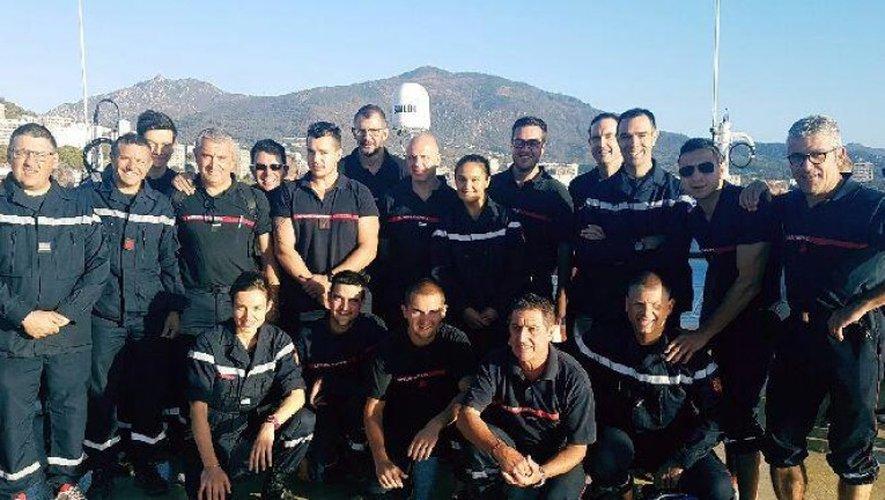 Incendies : les 20 sapeurs-pompiers engagés en Corse bientôt de retour en Aveyron