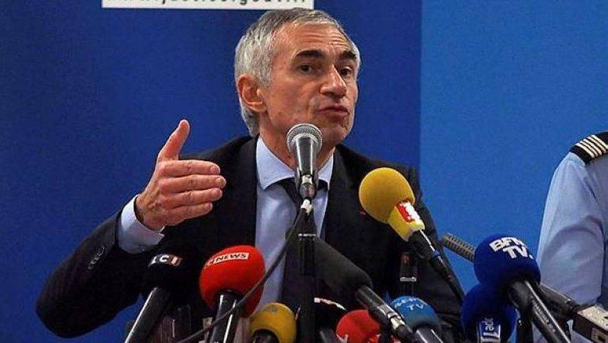 Le procureur de Marseille Xavier Tarabeux, lors d'un point de presse à Perpignan.