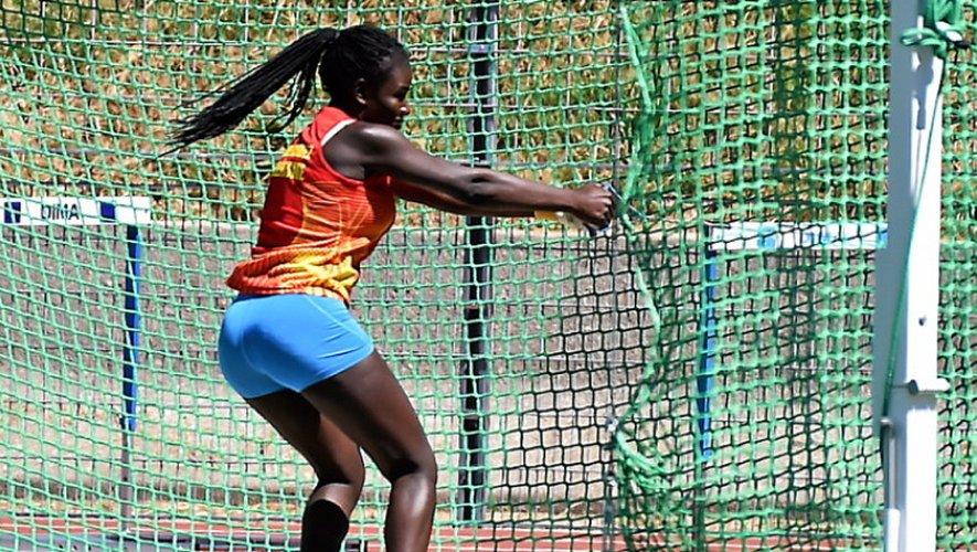 La lanceuse de marteau ruthénoise Aïssata Fofana a décroché le titre chez les cadettes.JLB