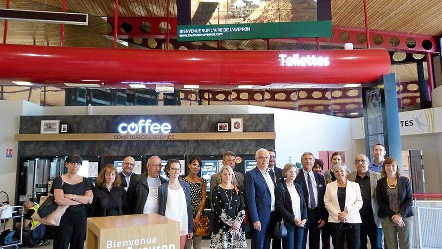 élus locaux et représentants du tourisme ont inauguré cette espace consacré au département et à ses charmes.