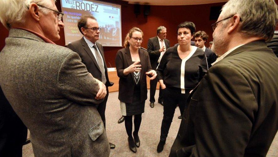 Axelle Lemaire lors de sa venue à Rodez, le 17 octobre dernier.