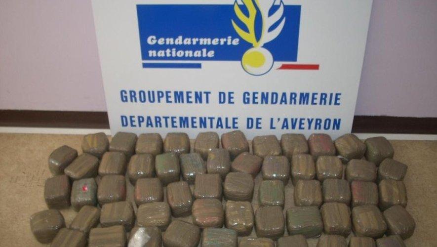 Le butin retrouvé par les gendarmes dans le véhicule intercepté lundi soir.