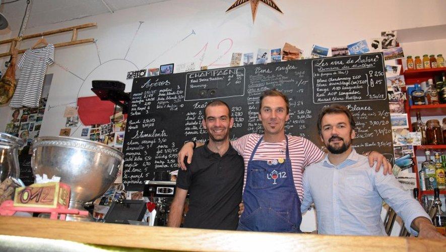 Gregory Diu, Gilles Pradalier et Mathieu Regourd unis dans un même élan.