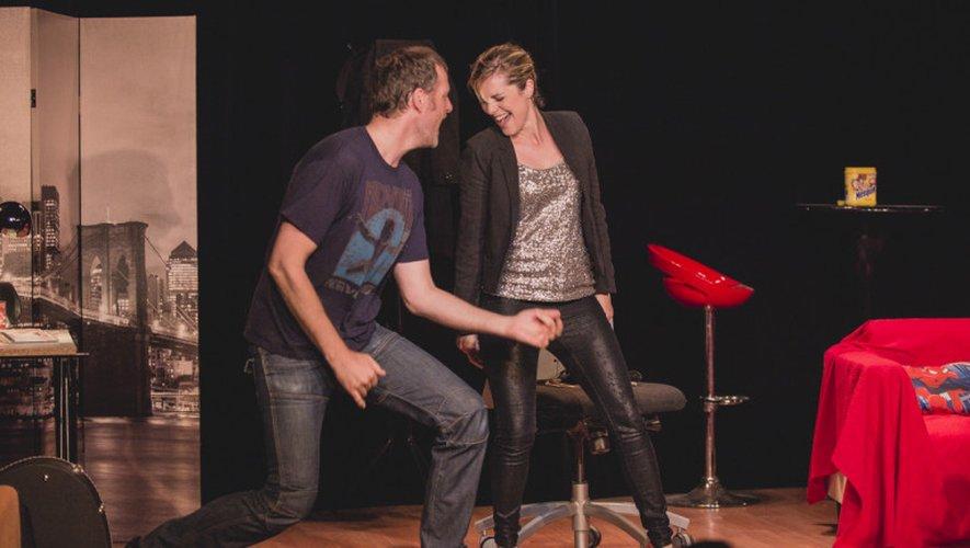Yanik Vabre et Géraldine Adams seront sur la scène du Club, vendredi 9 et samedi 10 juin. (reproduction Centre Presse Aveyron)