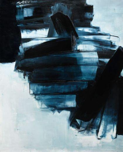 Une œuvre «bleue» de Pierre Soulages s'envole pour un prix record de 6,1 millions d'euros