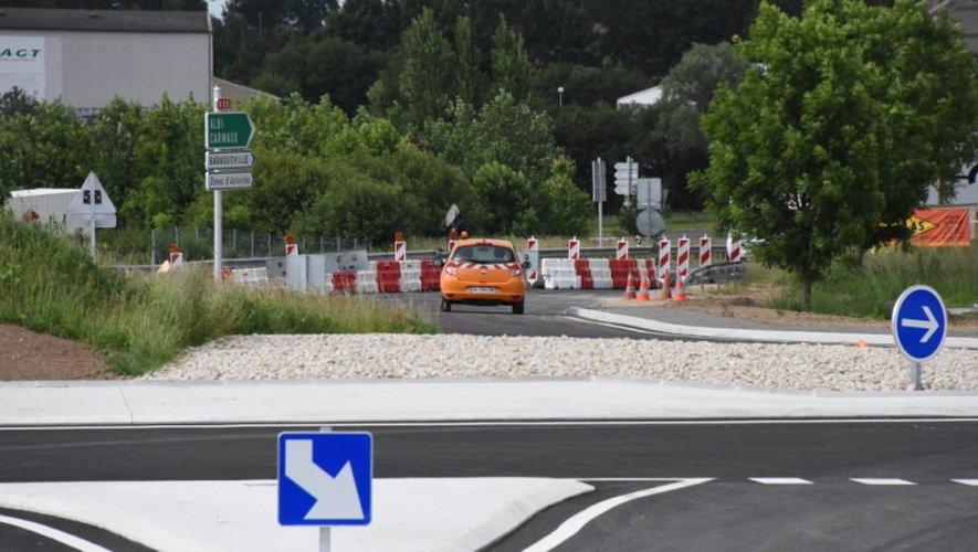 Les modifications de circulation seront installées aux abords du giratoire des Molinières.
