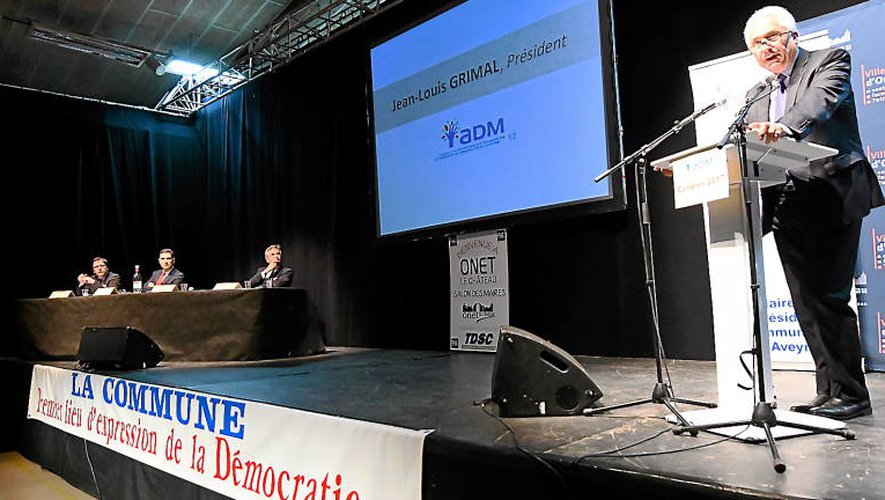 Jean-Louis Grimal, président de l'association des maires de l'Aveyron (Archives JAT).