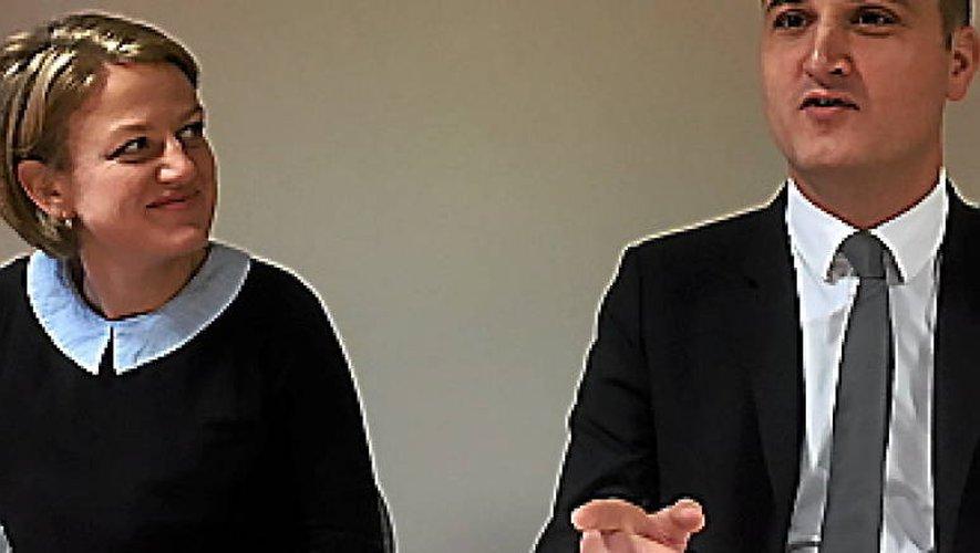 Sarah Vidal et Bertrand Cavalerie.