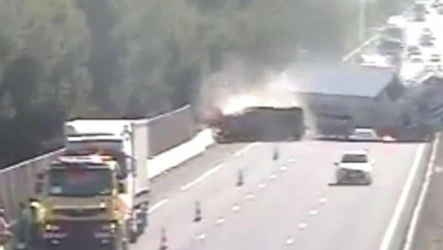 L'accident s'est produit sur l'A9, entre Narbonne et Béziers.