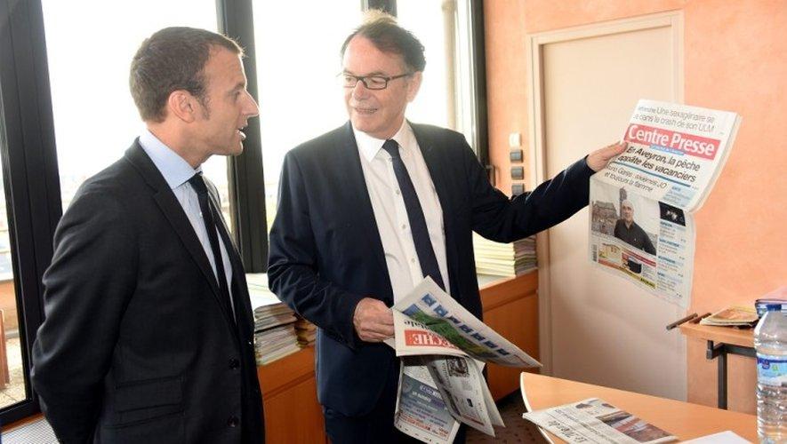 Christian Teyssèdre, ici en compagnie d'Emmanuel Macron.