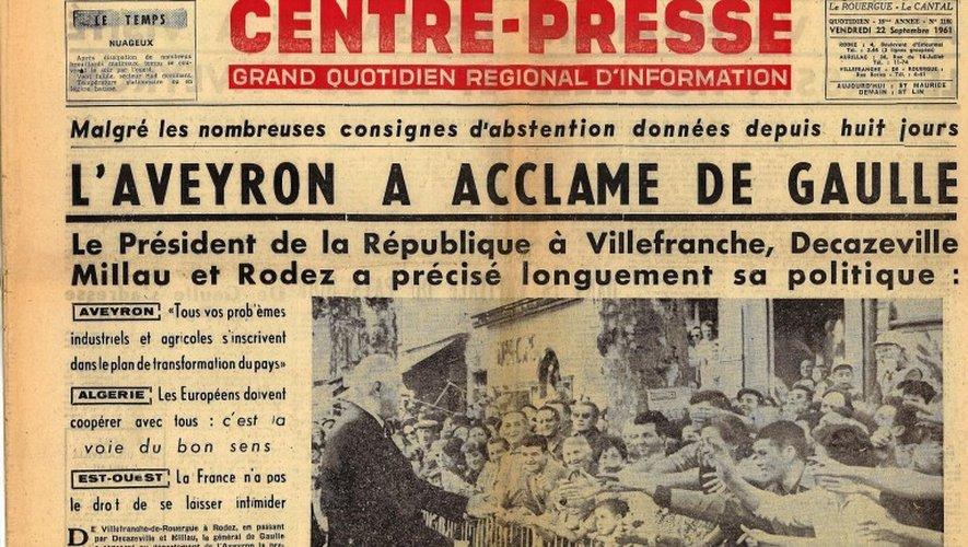«Il y a 56 ans, l'Aveyron acclamait De Gaulle » : une conférence animée par Jacques Godfrain