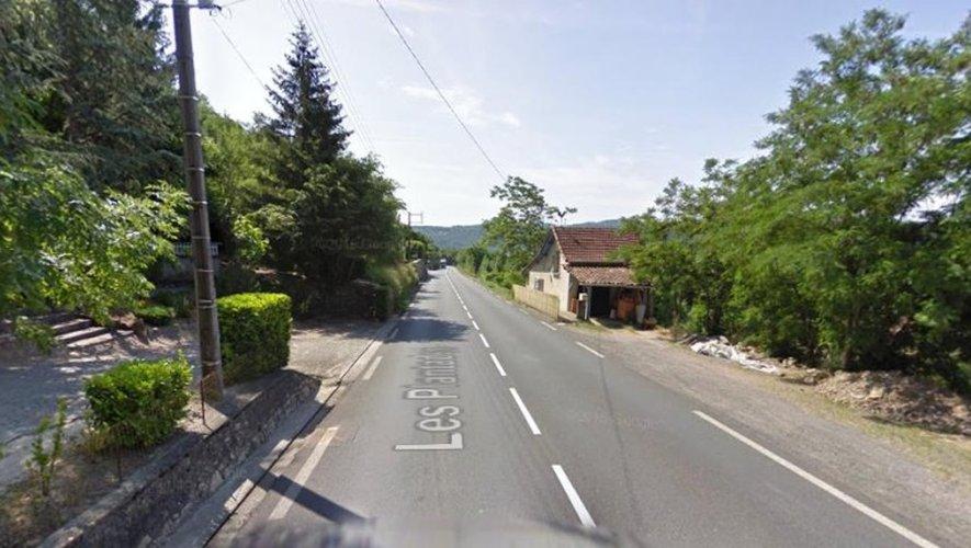 L'accident s'est déroulé au lieu-dit Les Plantades sur la RD840.