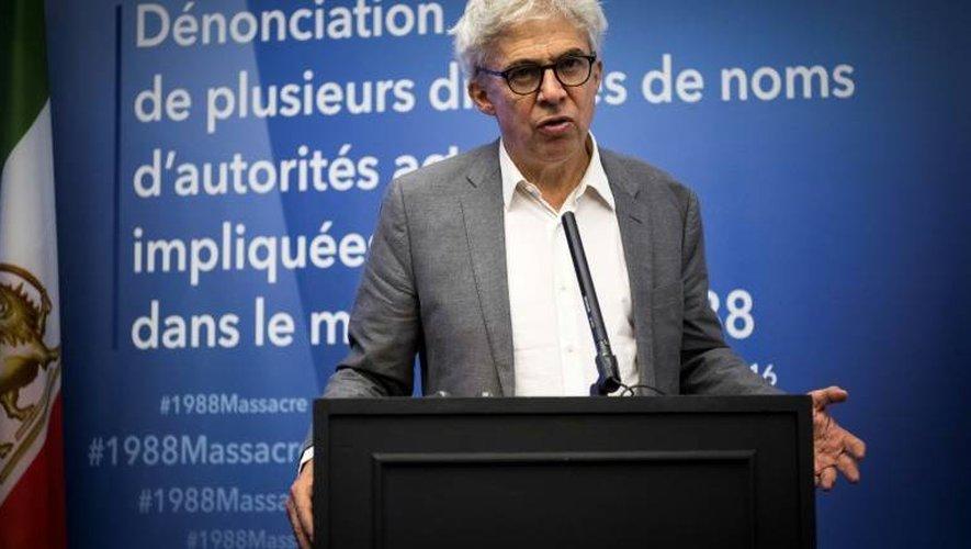 L'avocat français William Bourdon le 6 septembre 2016 à Paris