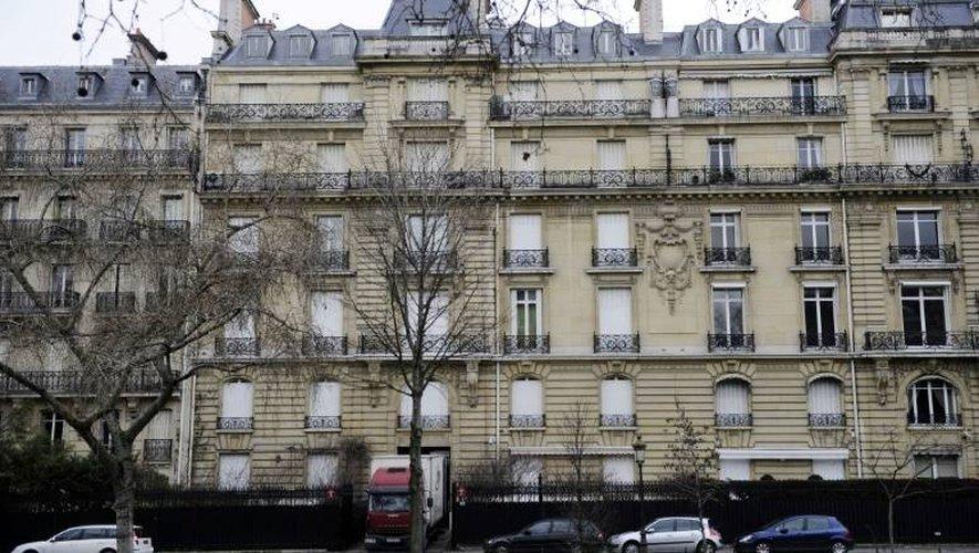 Vue extérieure en date du 14 février 2012 d'un appartement de Teodorin Obiang Mangue avenue Foch à Paris