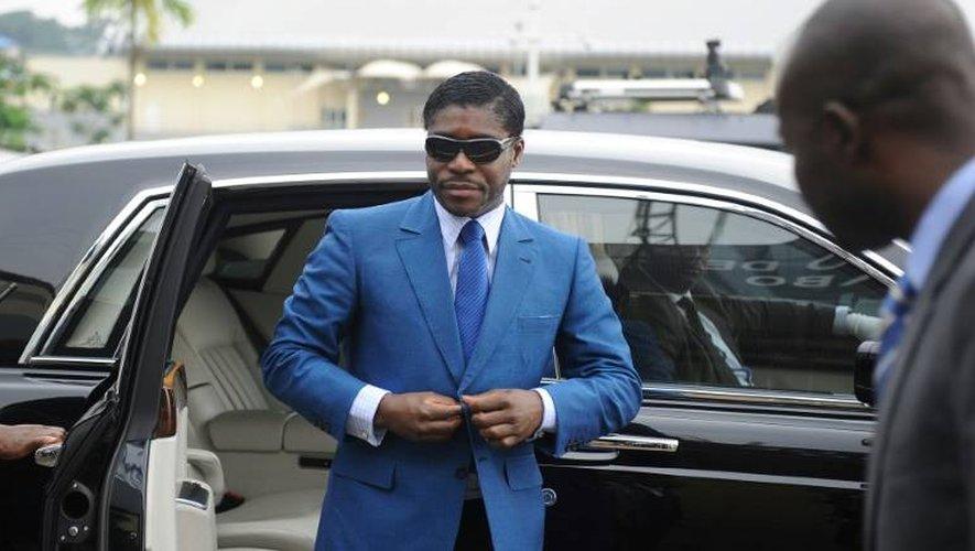 Teodorin Obiang, le fils du président de Guinée équatoriale, le 24 juin 2013 au stade de Malabo