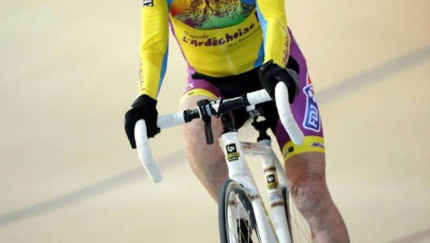 Robert Marchand, le 31 janvier 2014 au vélodrome national de Saint-Quentin