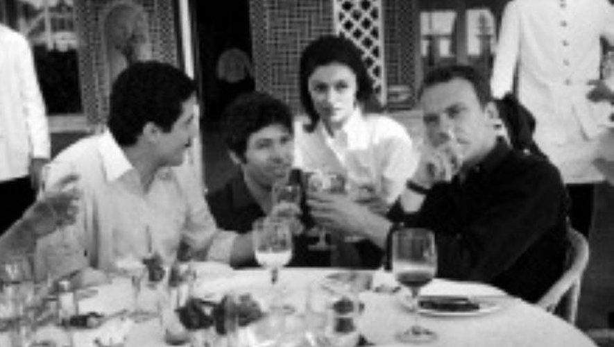 Claude Lelouch, Pierre Barouh, Anouk Aimée et Jean-Louis Trintignant le 21 mai 1966 à Cannes