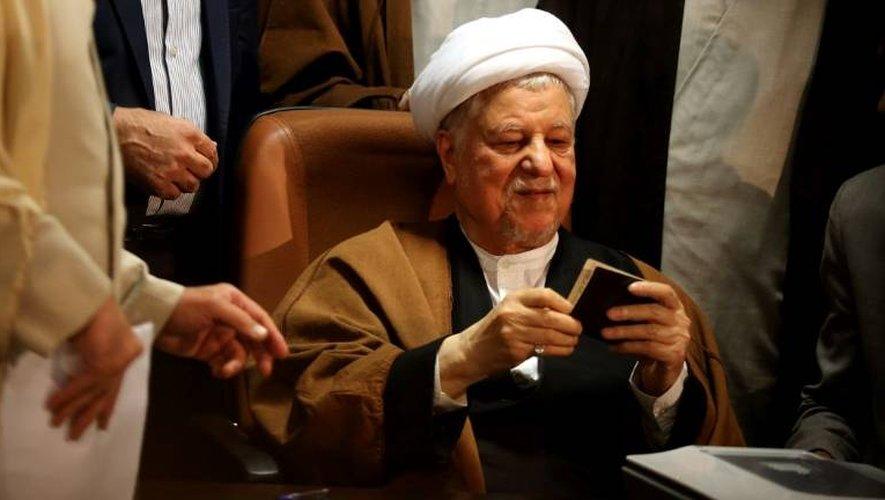 L'ex-président iranien Akbar Hachémi Rafsandjani, l'un des hommes clés de la République islamique, le 21 décembre 2015 à Téhéran
