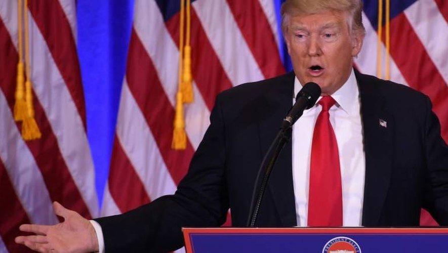 Donald Trump lors de sa conférence de presse à New-York, le 11 janvier 2017