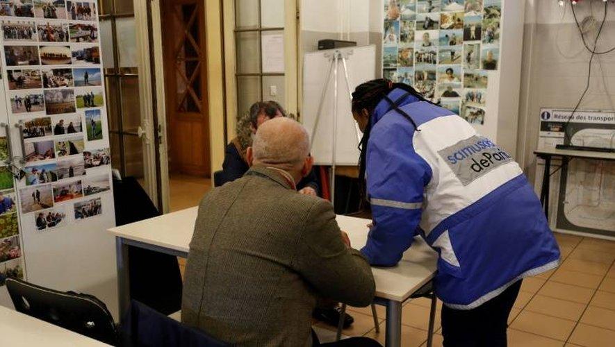 Dans un centre d'accueil du Samu social à Paris, le 9 janvier 2017